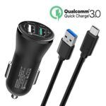Quick charge 30 cargador de coche, doble usb puerto